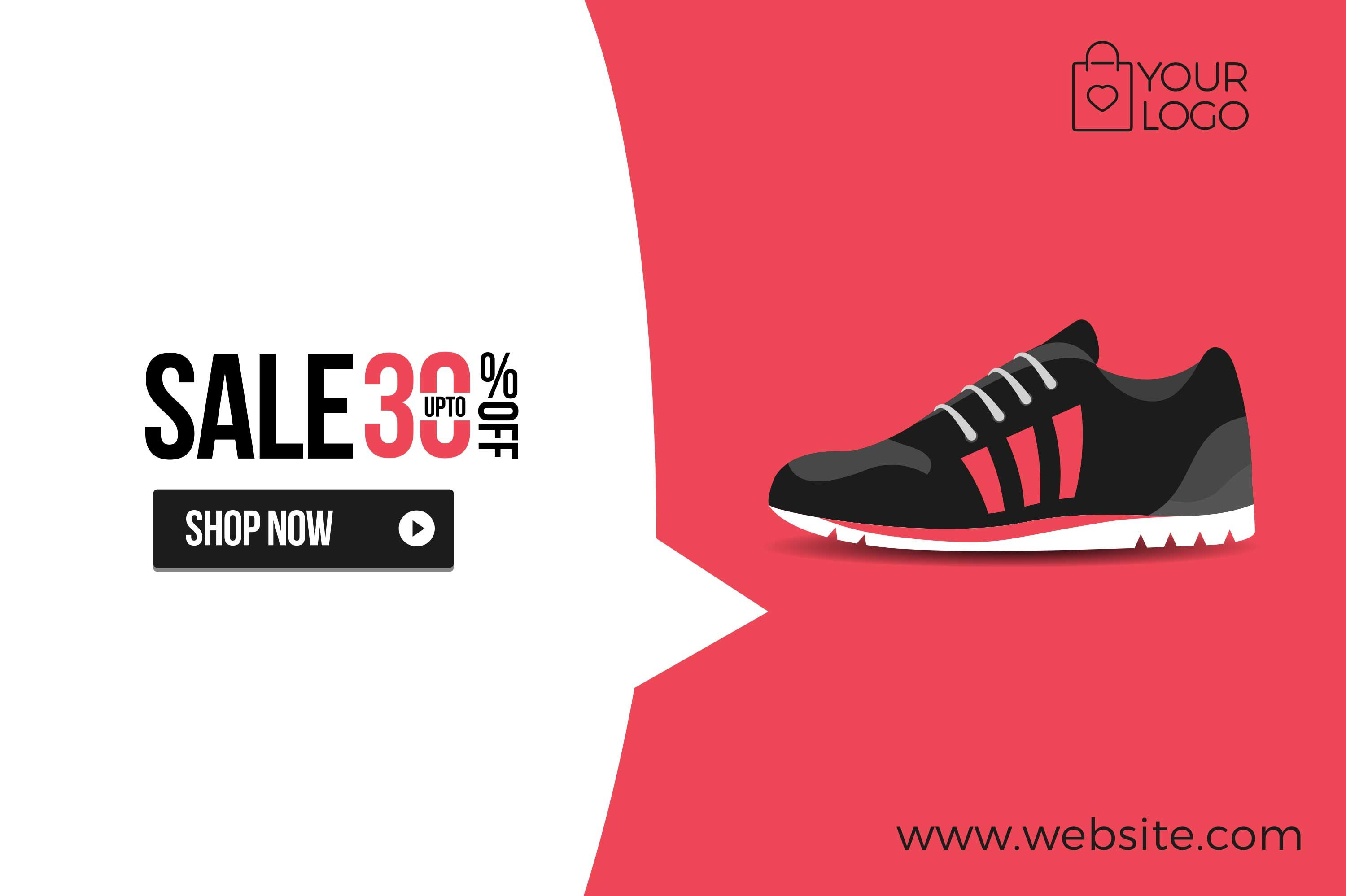Flat Product Sale Shoe banner by Woo Graphics on Creative Market ...