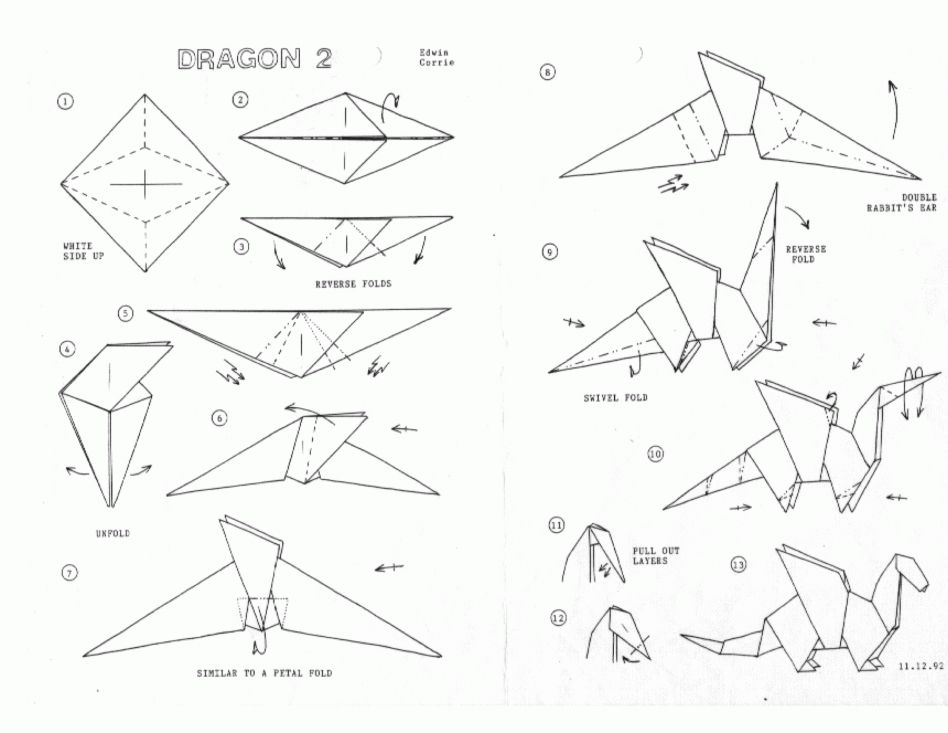 How To Do An Origami Dragon Easy Origami Dragon Origami Origami