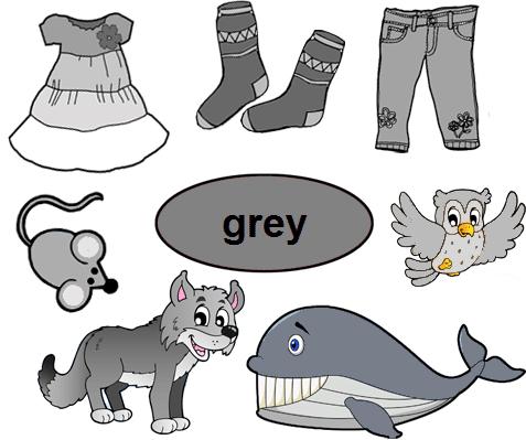 Color Grey Worksheets for Kindergarten Places to Visit