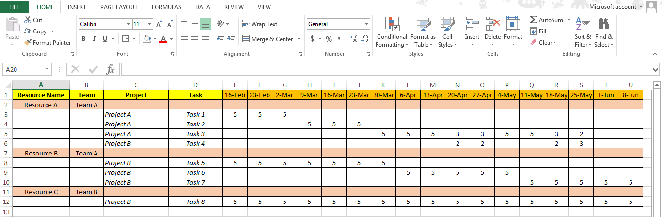 Download a free resource scheduling template for excel | resource guru.