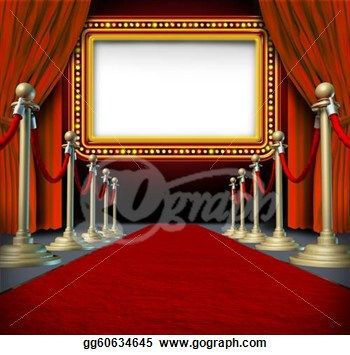 Drawing - Movie marquee sign. Clipart Drawing gg60634645 ...