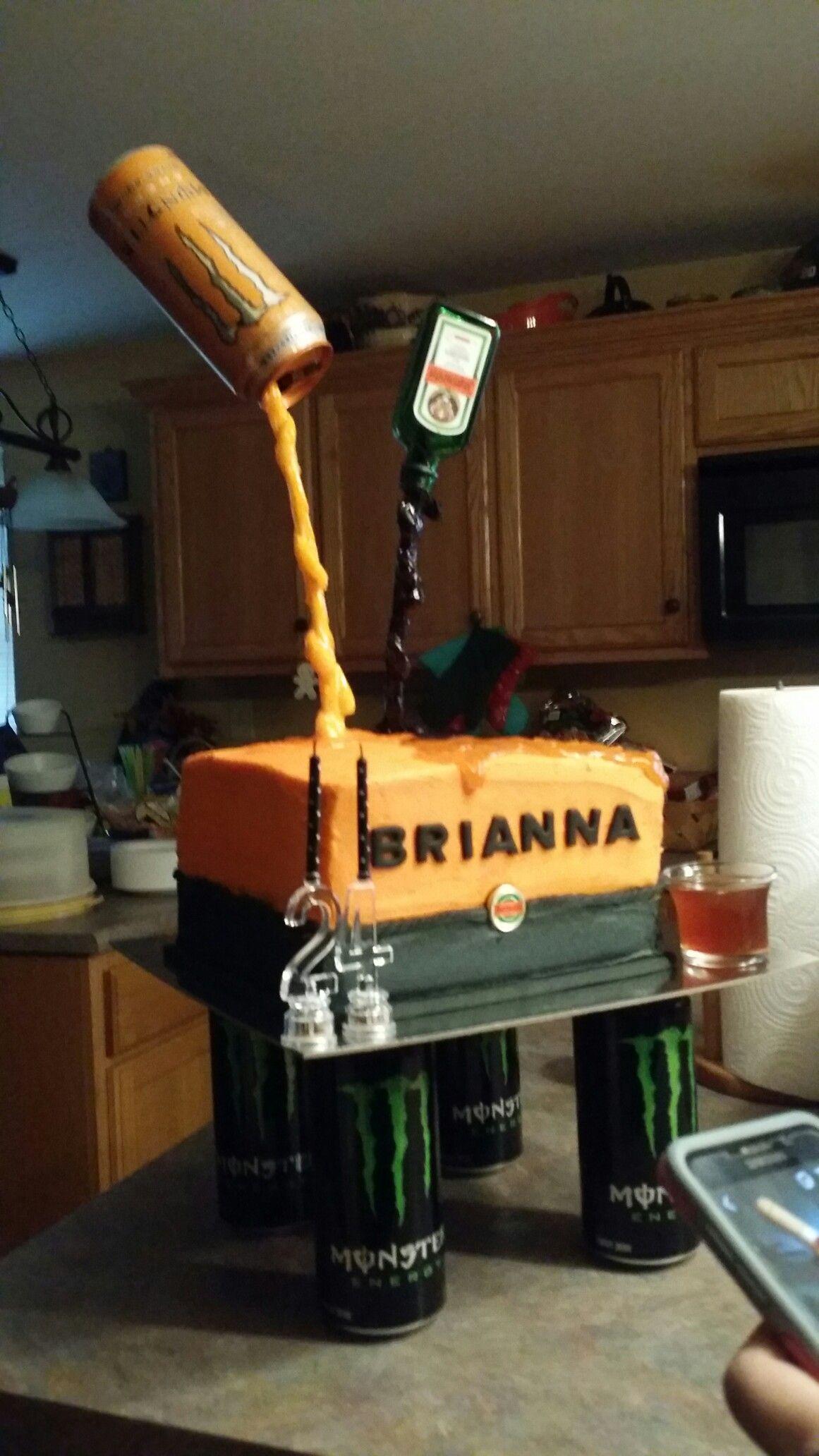 Jagermeister Jager Bomb Gravity Defying Cake Cakes Pinterest