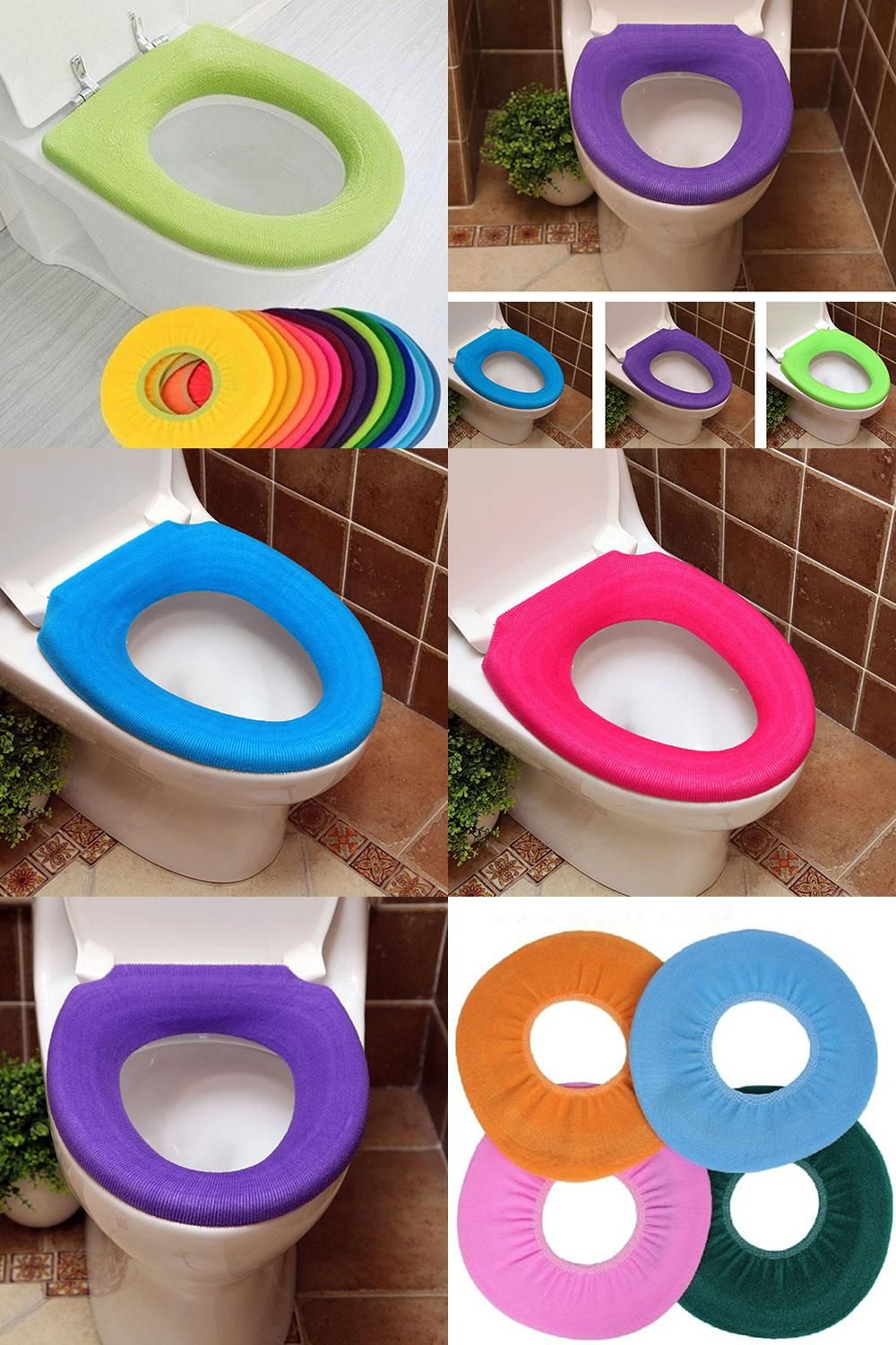 Visit To Buy Home Bathroom Decoration Pure Color Warm Toilet Washable Seat Cover Pad Cushion Advertisement Pad Cover Bathroom Decor Pure Products