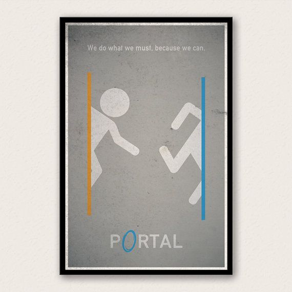 Portal Poster Video Game Wall Art Retro Gamer Geek Poster