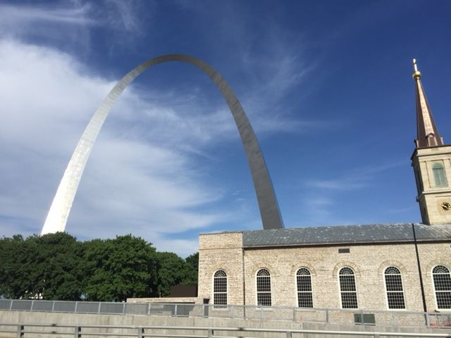 On our way to the Arch in St. Louis, MO