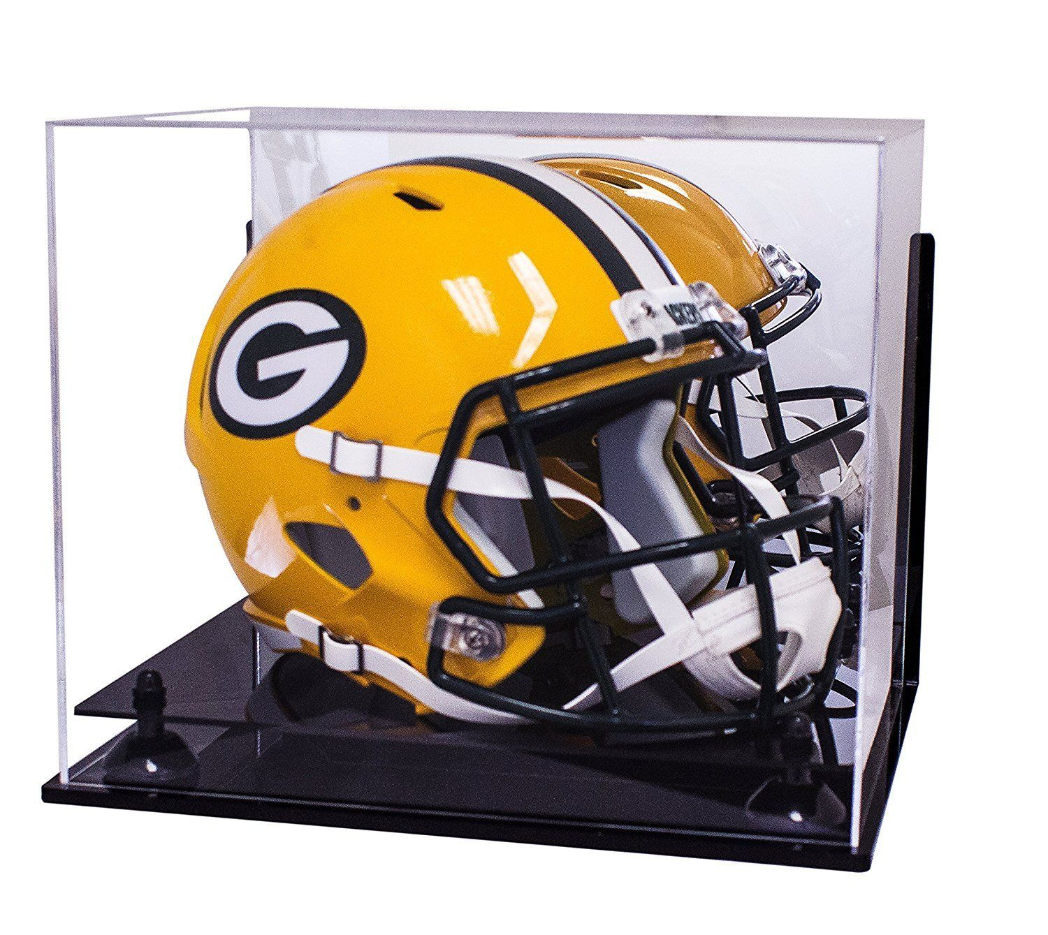 Acrylic Football Helmet Display Case With Mirror Wall Mount And