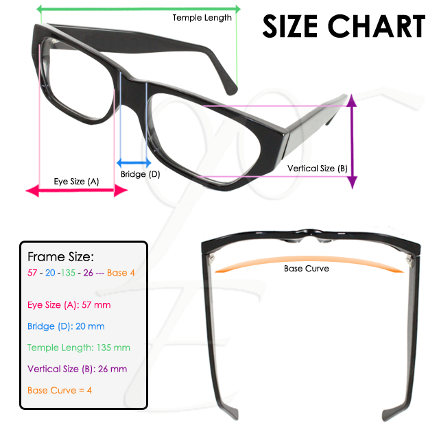 eyeglass lens size chart pictures to pin on