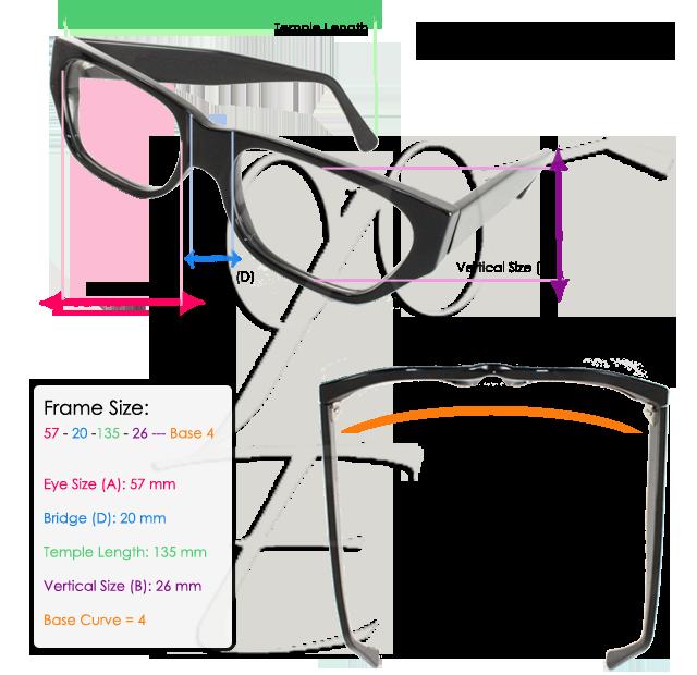 Eye glasses size chart | Make Up & Eyeglasses | Eyeglasses, Eyewear