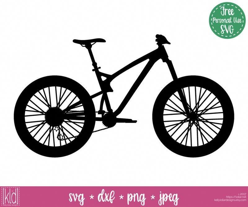 Mountain Bike Svg File Free For Personal Use By Kelly Lollar