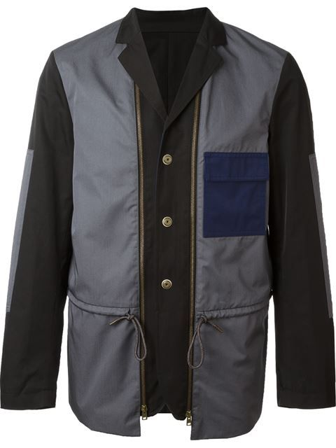 MARNI Contrasted Panel Blazer. #marni #cloth #blazer