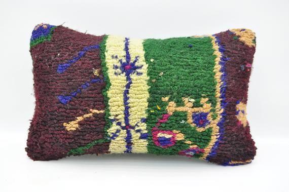 """12""""x20"""" lumbar pillow green decorative kilim pillow oriental kilim pillow boho pillow sofa pillow No"""
