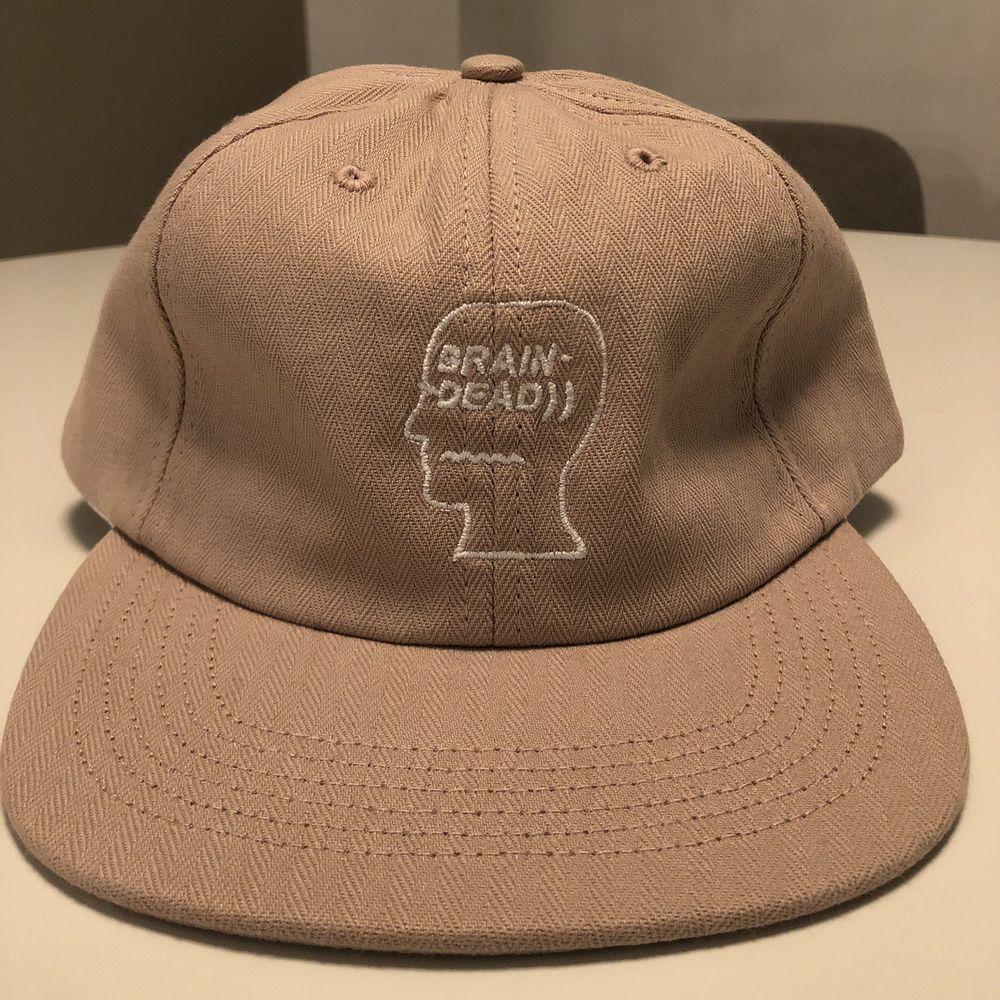 4e20fc8fd7025 Brain Dead herringbone cotton logo cap hat dusty pink rose BNWOT DS 2016  yeezy  fashion