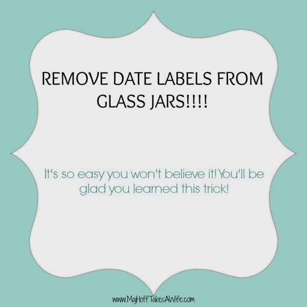 Easiest Way To Remove An Ink Label Printed On A Glass Jar