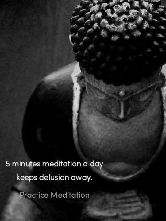 5 minutes of meditation a day keeps delusion away 5 minuti di meditazione al giorno