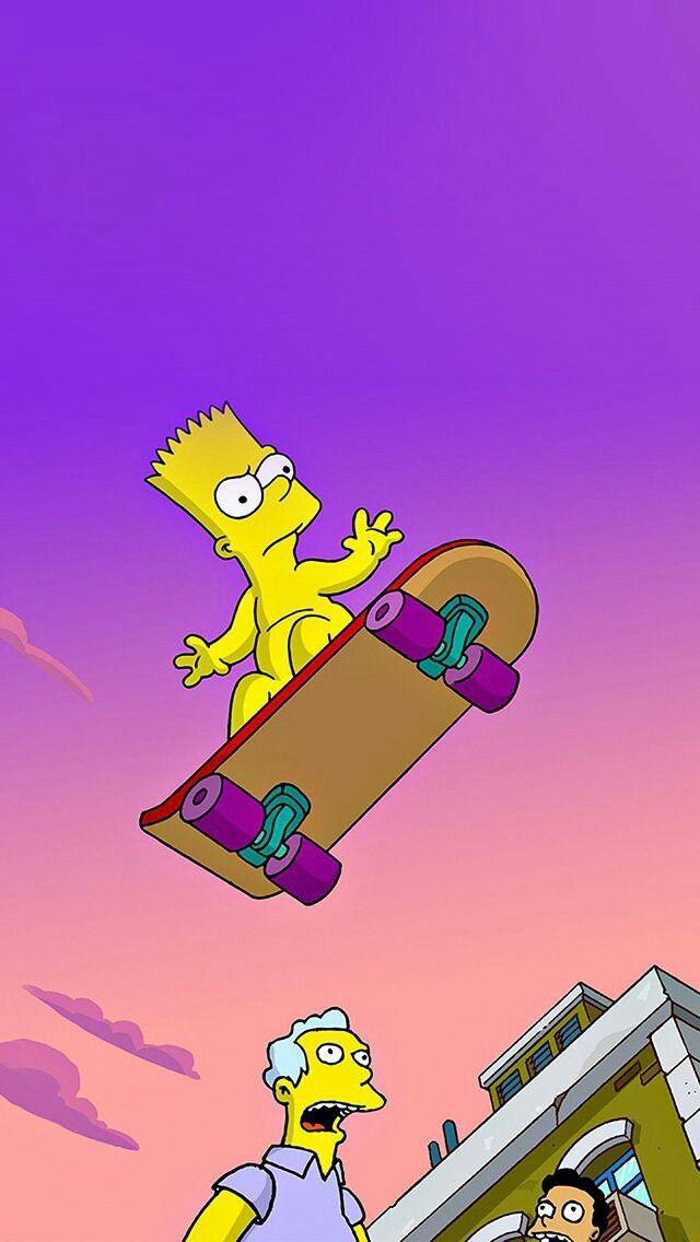 Mac Wallpaper Simpson Iphone Simpsons Characters Bart Wallpapers Cartoons Swag Animated Cartoon