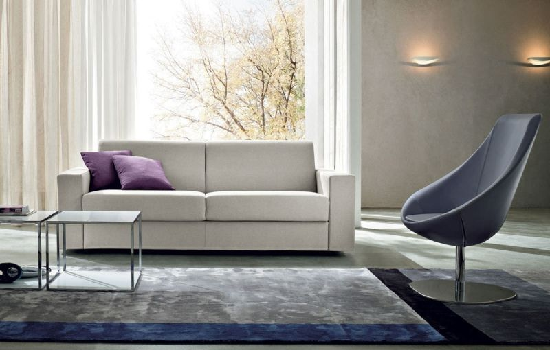 Gray sofa bed for a modern and functional living room Grey sofa