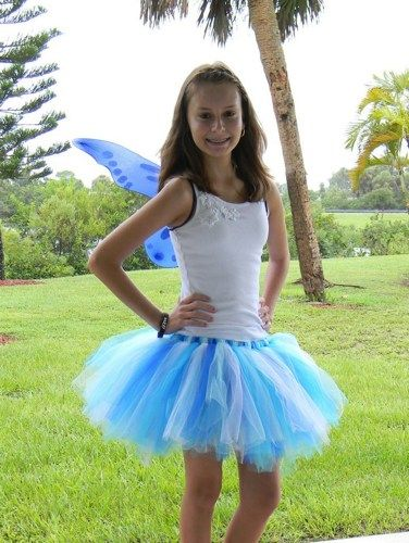 27045a5cf7 Water Fairy Teen / Adult Tutu many shads of Blue full tutu with Wings |  Turnabout - Clothing on ArtFire
