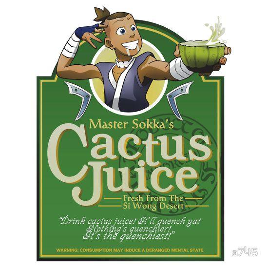 "Redbubble - ""Master Sokka's Cactus Juice"" T-Shirt"