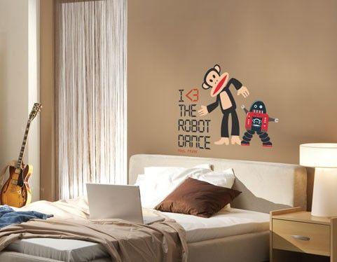 Paul Frank - Robot Dance wall decal