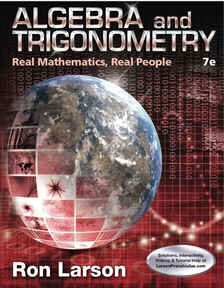 Algebra and Trigonometry: Real Mathematics Real People 7th Edition ...