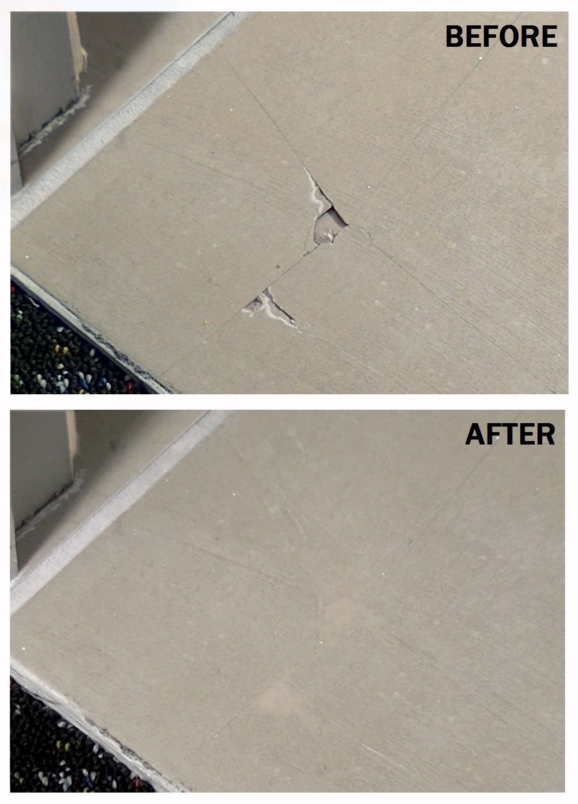 A chipped tile before after using magicezy tile fix repair a chipped tile before after using magicezy tile fix dailygadgetfo Images