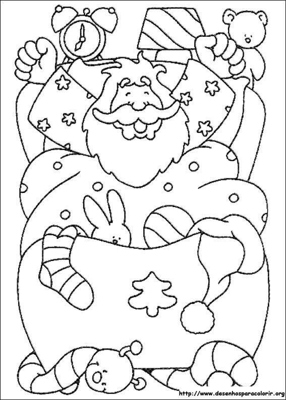 Pin de I T en Coloring - Santa | Pinterest