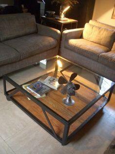 Table basse bois et acier