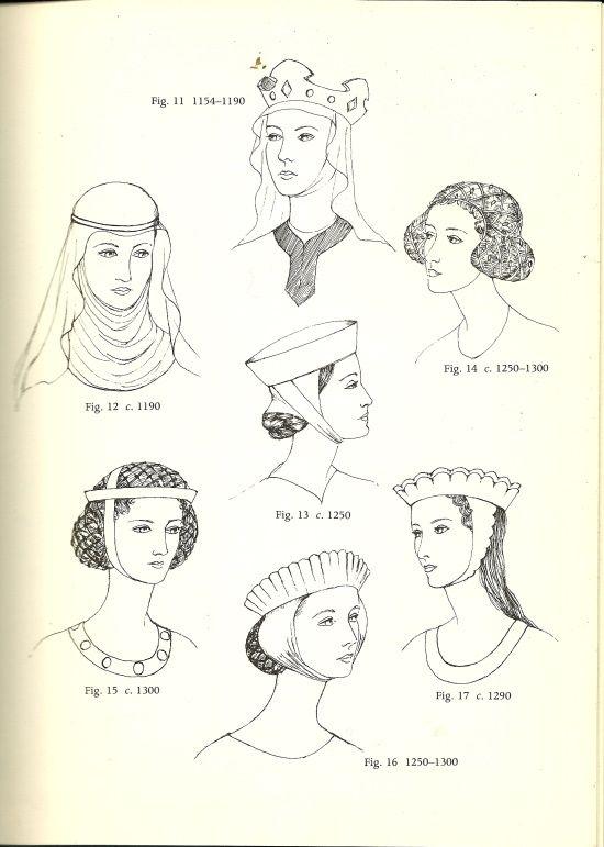 Prendas básicas del S. XIII: los tocados femeninos | Trajes ...