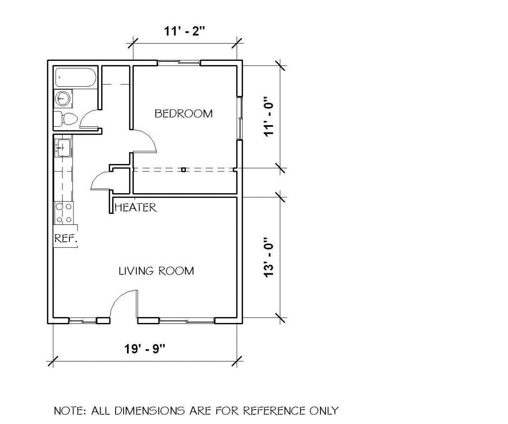 Elegant 1 Bedroom Duplex House Plans One Bedroom House Plans Cottage Floor Plans One Bedroom House