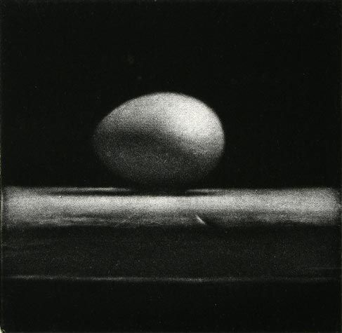 Cleo wilkinson inception 2011 mezzotint 4 50 4 x 4 inches