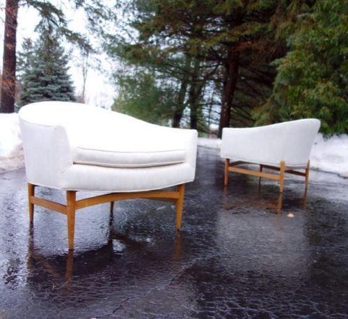 Pair of Floating Lawrence Peabody Danisg Mid Century Modern Lounge Club Chairs   eBay
