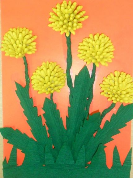 Цветы из ватных палочек своими руками фото 405