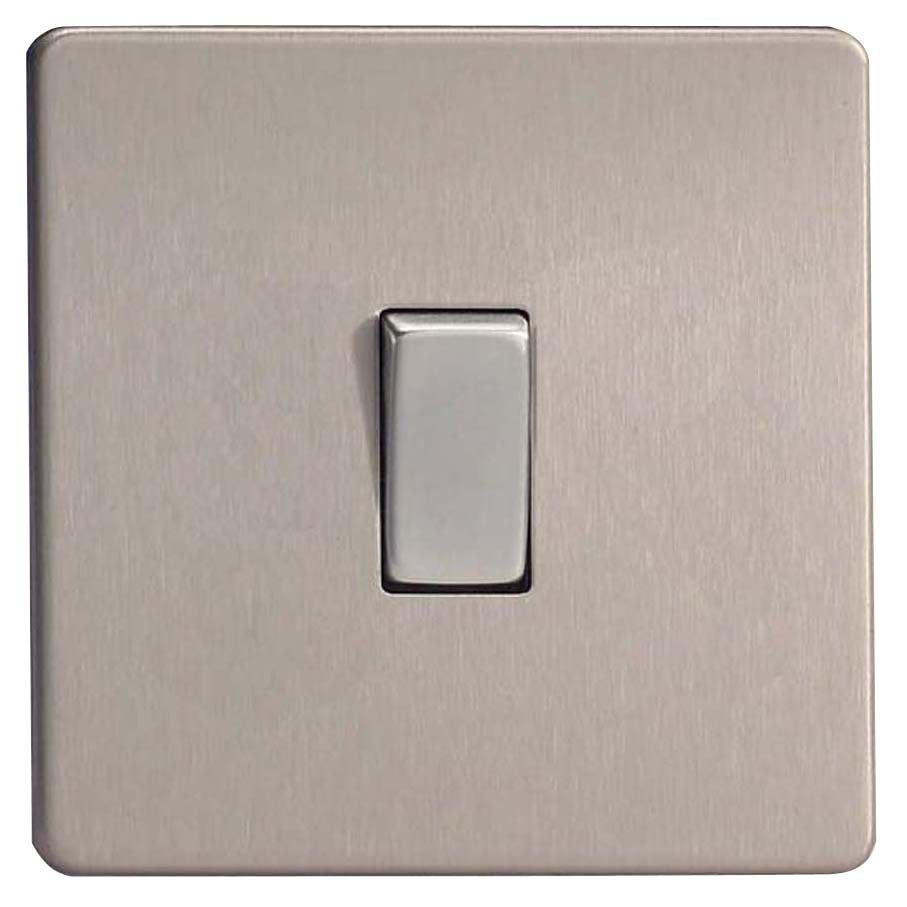 Varilight 10a 2 Way Stainless Steel Single Switch Departments