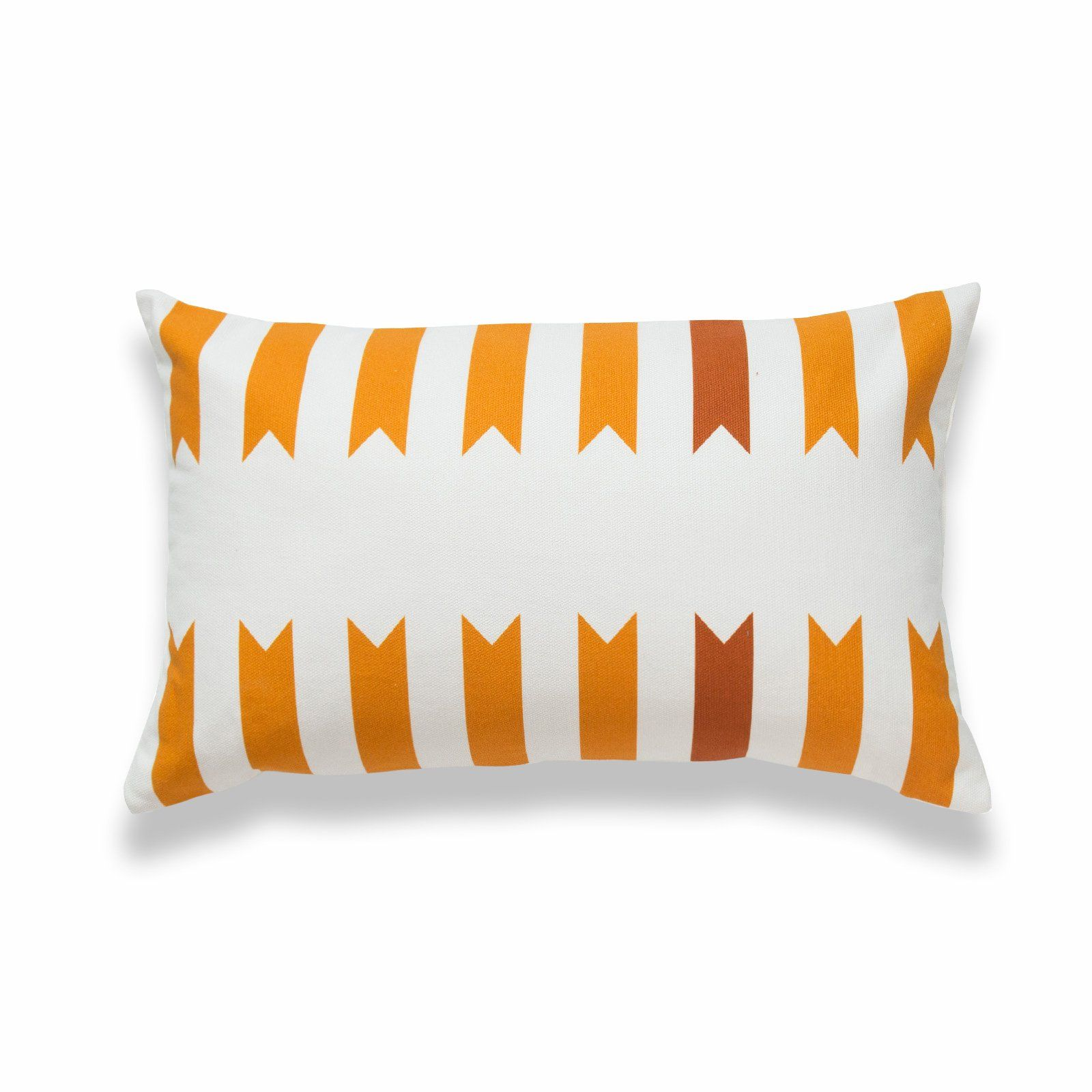 Hofdeco Aztec Print Lumbar Pillow Cover, Geometric, Maple Mustard Yellow, 12x20 #aztec