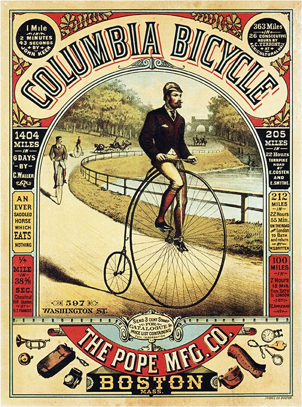Columbia Bicycles Vintage Advertising Poster Wall Art | Vintage ...