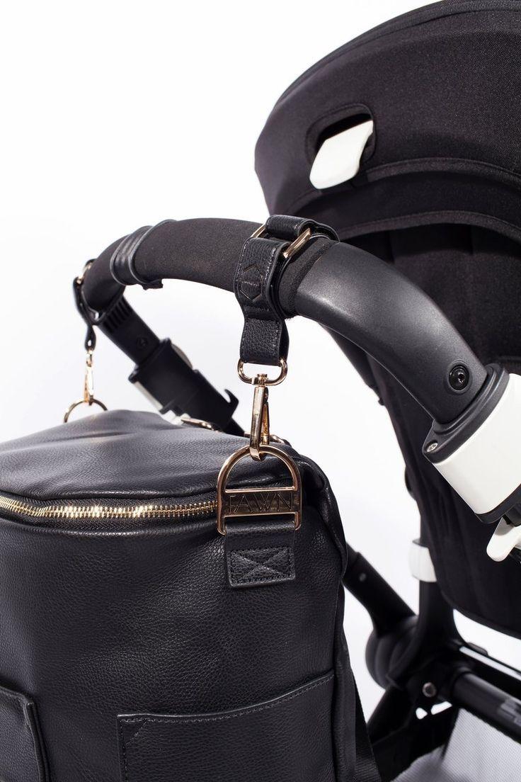 The Stroller Hooks Black Fawn design diaper bag