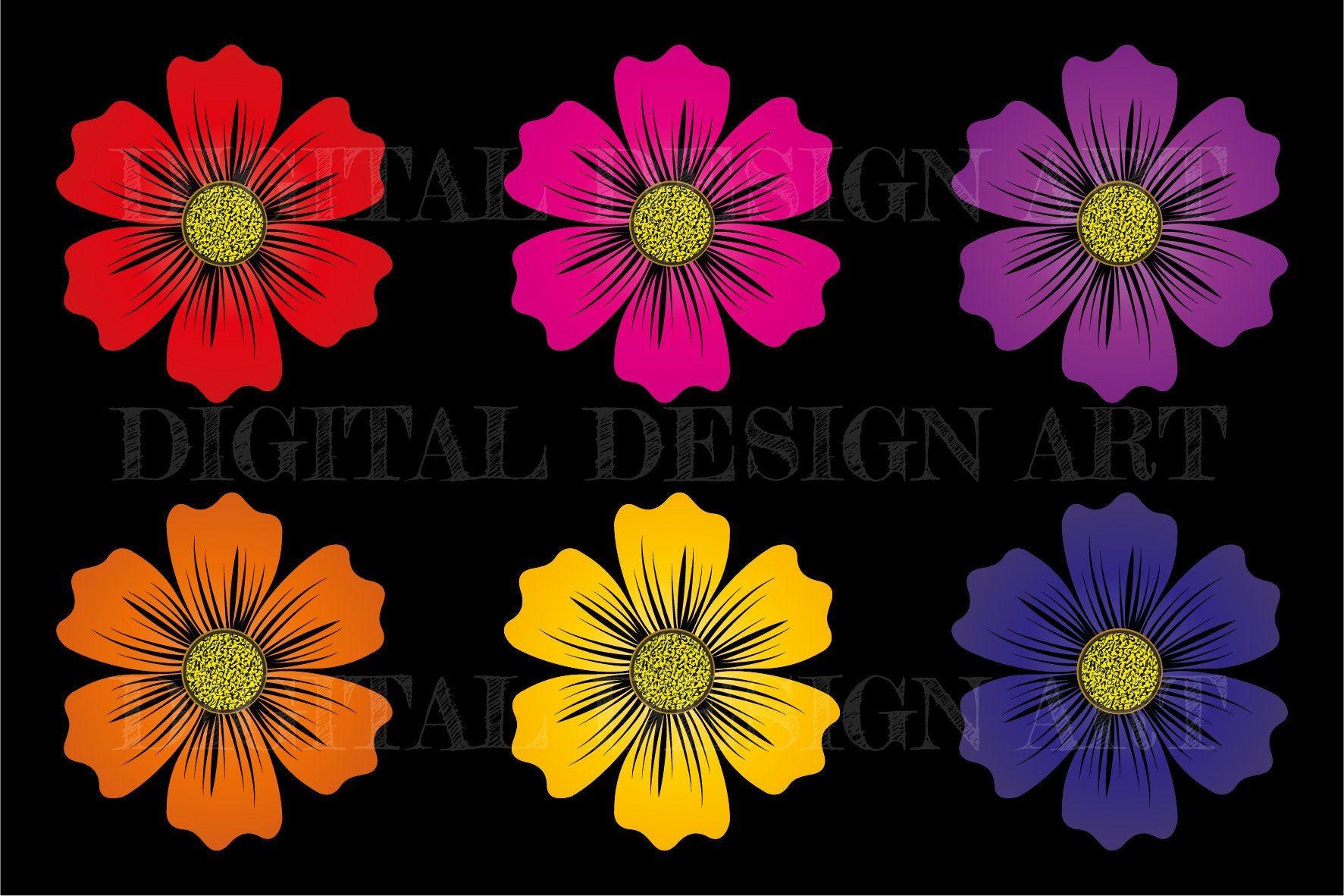 Blumen PNG + SVG Datei für Sublimationsdruck und