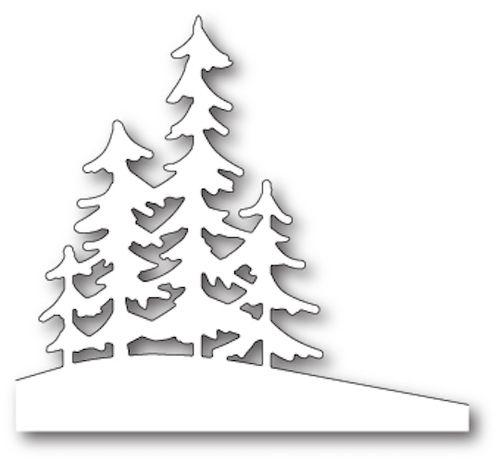 Memory Box Die Alpine Trees Craft Die 99829 Xmas Stencil