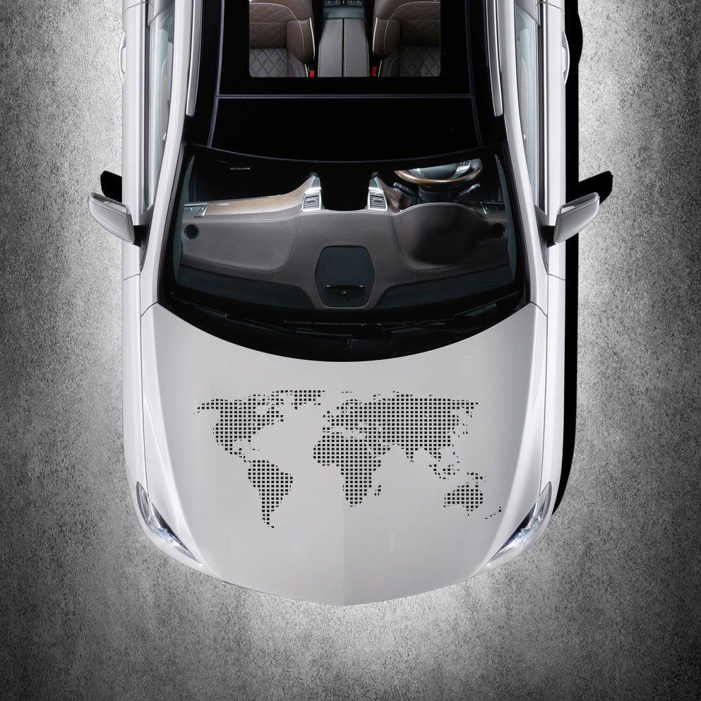Cute car sticker designs - World Map Earth Hood Car Vinyl Sticker Decals Graphic Murals Cute Design Sv2512