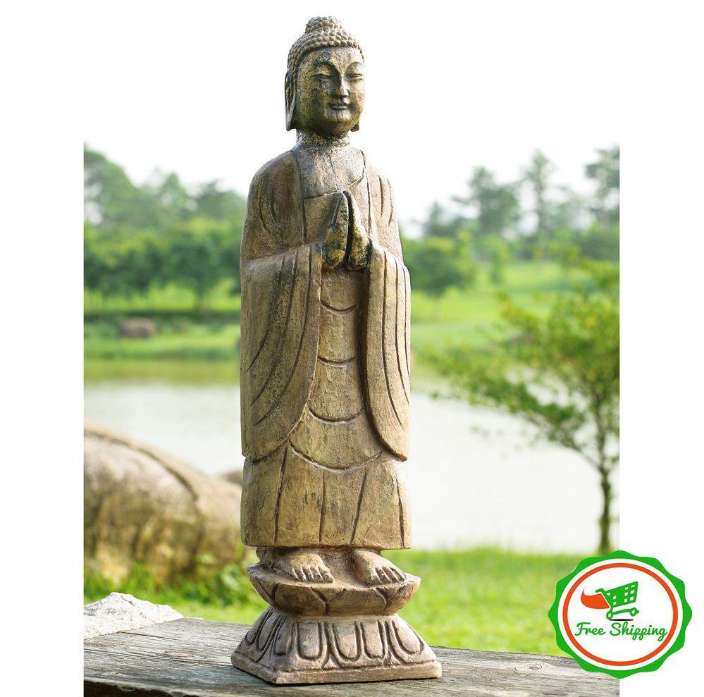 Large Buddha Statue Decorative Zen Home Sculpture Art Outdoor Garden ...