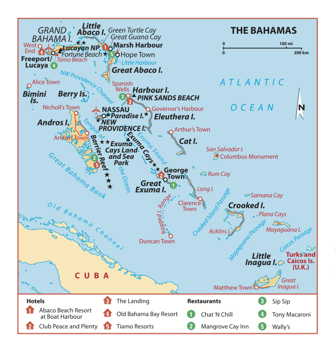 Map of The Bahama Islands went for 25th wedding Anniversary