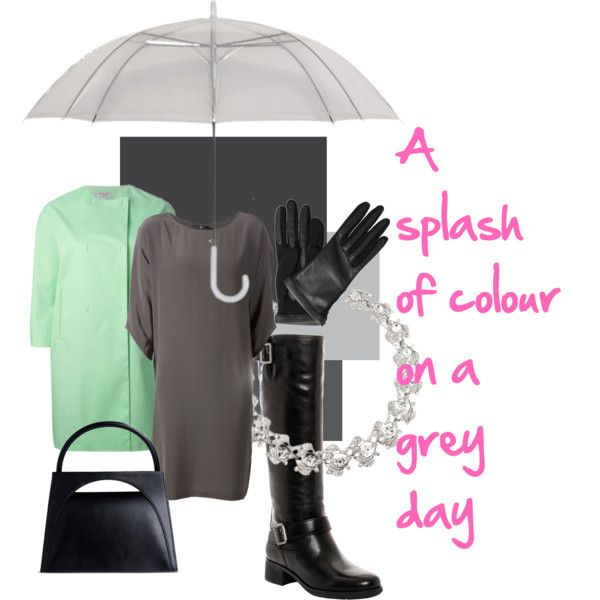 Rainy Day Grey by fitzmiapp on Polyvore featuring Jarbo, Alberto Biani, Prada, J.W. Anderson and Lanvin