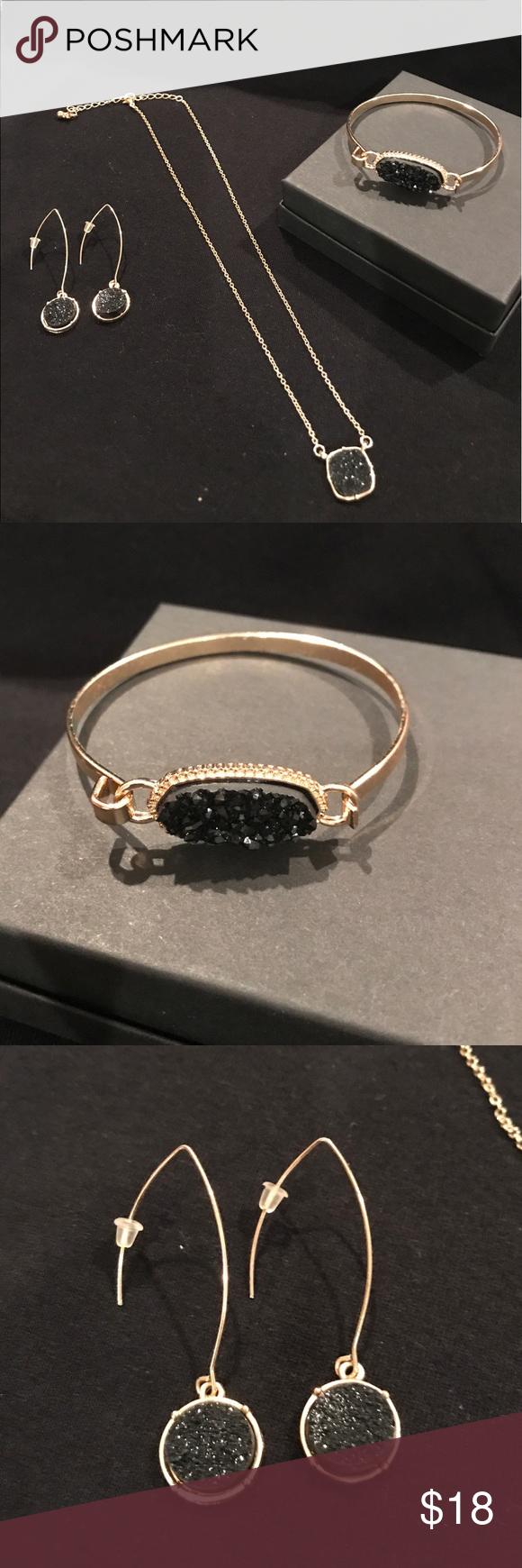 Blackgold drury jewelry set my posh picks pinterest black