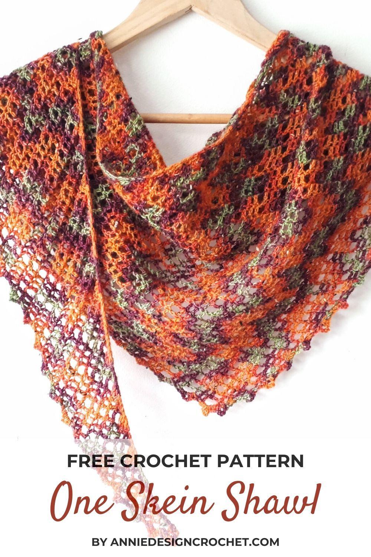 One Skein Crochet Shawl - Free Pattern