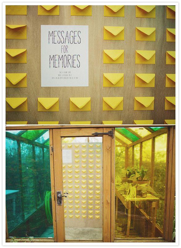 yellow envelope message area