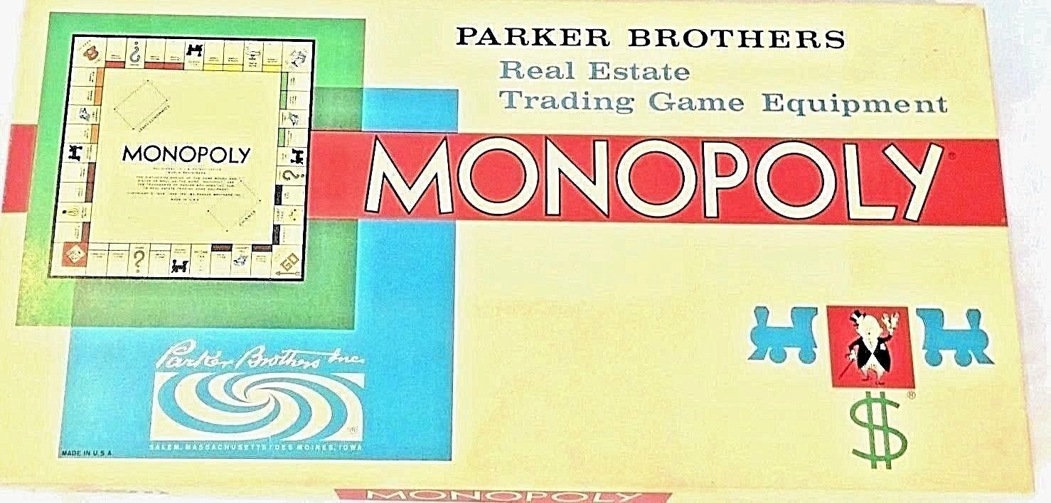 Monopoly Game Vintage Complete 1961 Parker Brothers Real