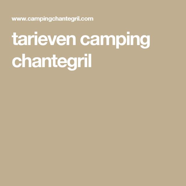 tarieven camping chantegril