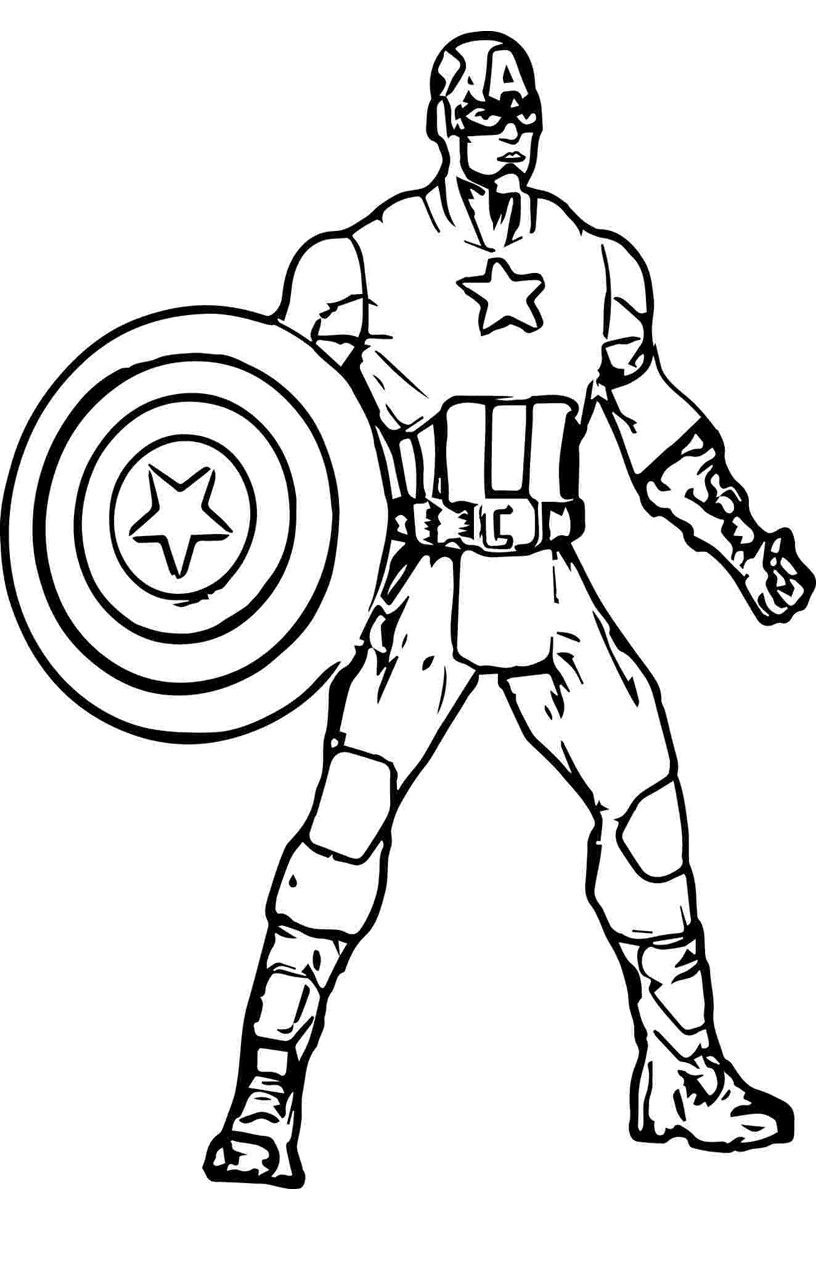 23+ Printable captain marvel coloring pages info