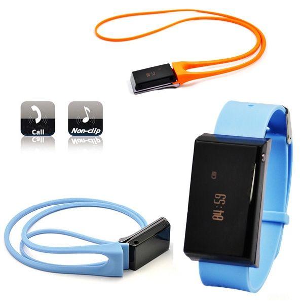 Esyspot - Detachable Wristband Calling Vibrating Reminder Music Play Caller ID Display Smart Bluetooth Phone Watch - Blue / Orange - Cell Ph...