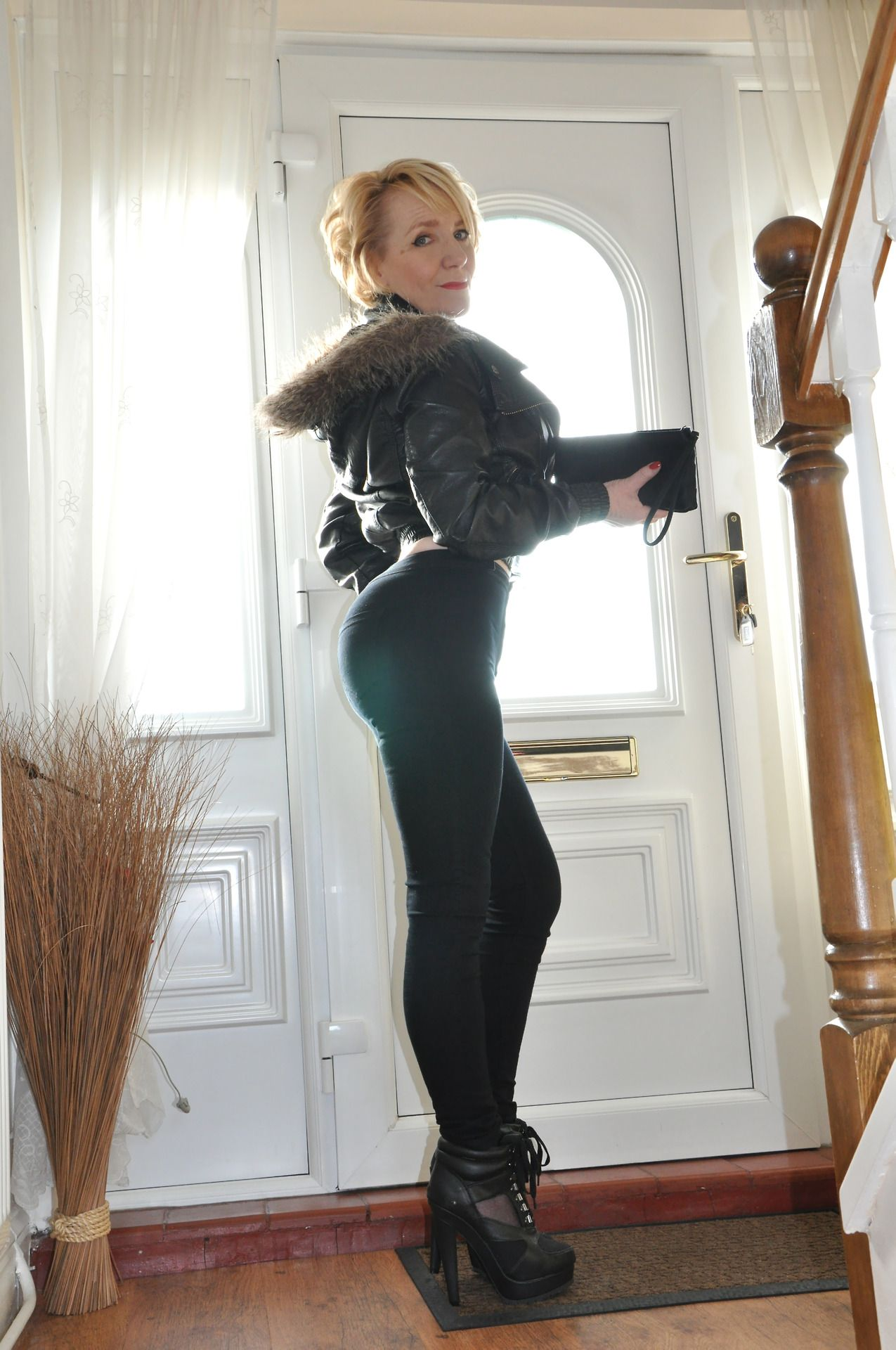 milf yoga pants boots